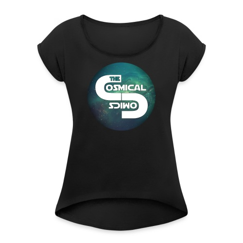 TheCosmicalComics logo - Women's Roll Cuff T-Shirt