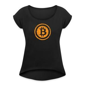 Bitcoin Worldwide Crypto Currency - Women's Roll Cuff T-Shirt