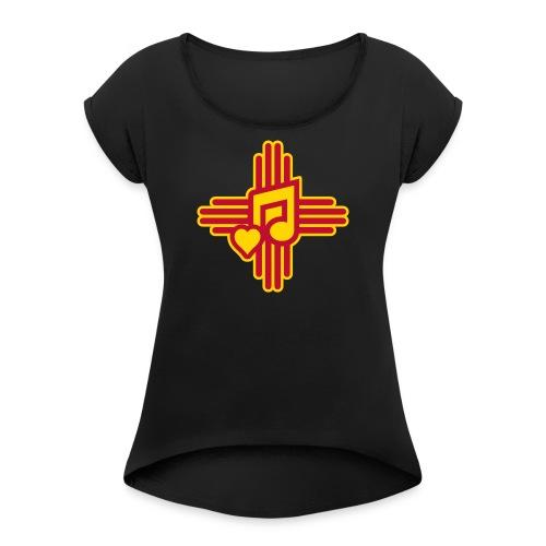 New Mexico Spanish Music - Women's Roll Cuff T-Shirt