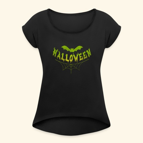 halloween - Women's Roll Cuff T-Shirt