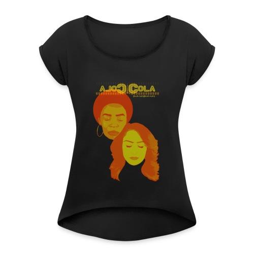 Cola Cola Full Logo - Women's Roll Cuff T-Shirt