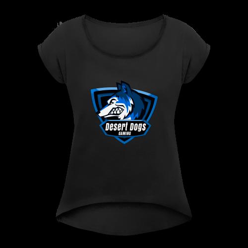DSDG Emblem - Women's Roll Cuff T-Shirt