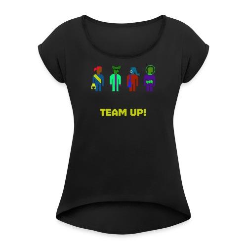 Spaceteam Team Up! - Women's Roll Cuff T-Shirt