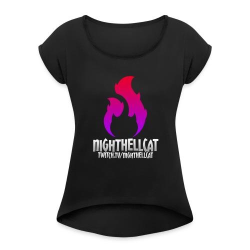 NightHellcat Twitch Logo - Women's Roll Cuff T-Shirt