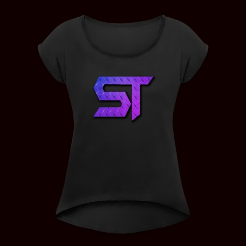 SatireTravesty Logo - Women's Roll Cuff T-Shirt