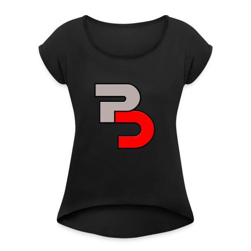 P And C logo - Women's Roll Cuff T-Shirt