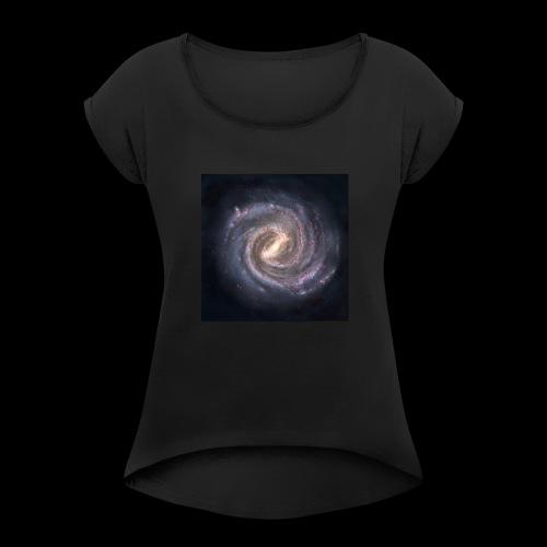 The Milky way - Women's Roll Cuff T-Shirt