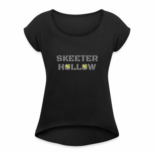 Skeeter Hollow honeybees - Women's Roll Cuff T-Shirt