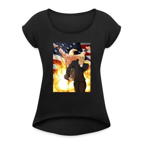 Trumps stand - Women's Roll Cuff T-Shirt