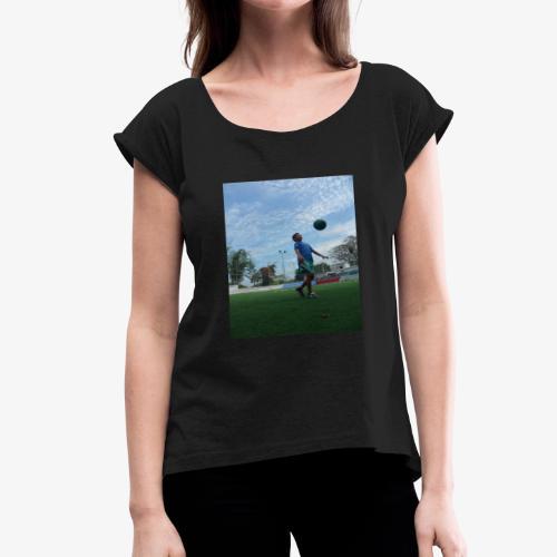 future golden ball - Women's Roll Cuff T-Shirt