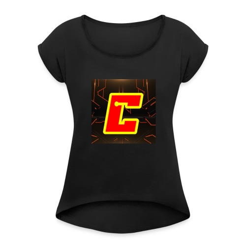 CameronGames99 Logo - Women's Roll Cuff T-Shirt