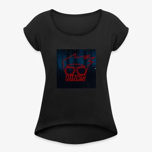 Binks Upside Down - Women's Roll Cuff T-Shirt