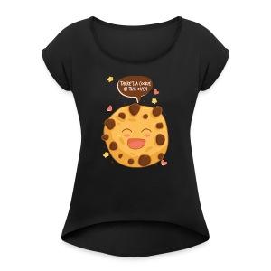 cookie - Women's Roll Cuff T-Shirt
