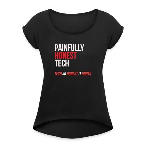 tshirt design 4 - Women's Roll Cuff T-Shirt