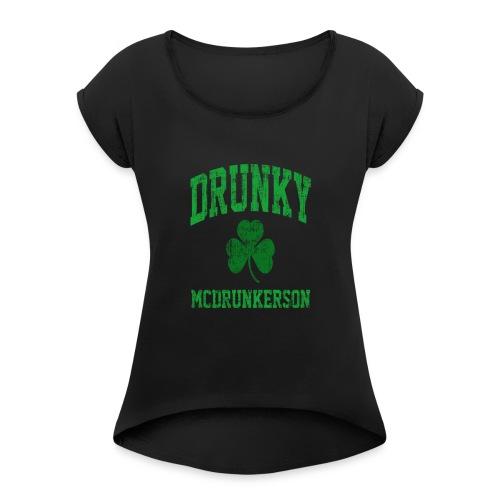 irish shirt - Women's Roll Cuff T-Shirt