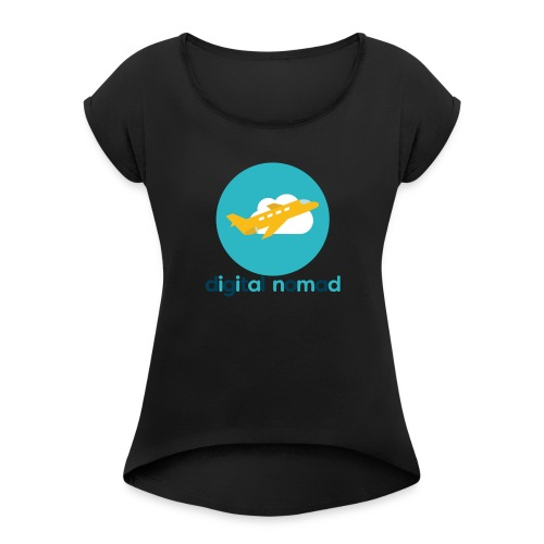 Digital nomad - Women's Roll Cuff T-Shirt