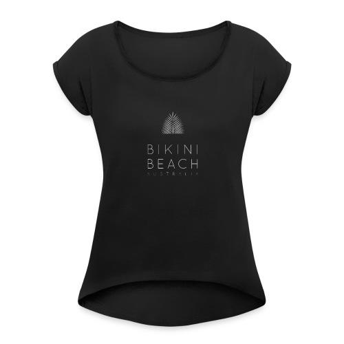 Updated White Logo - Women's Roll Cuff T-Shirt