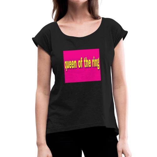 90AB3F23 8AB3 4FAF 9979 6B3F835BC7CC - Women's Roll Cuff T-Shirt