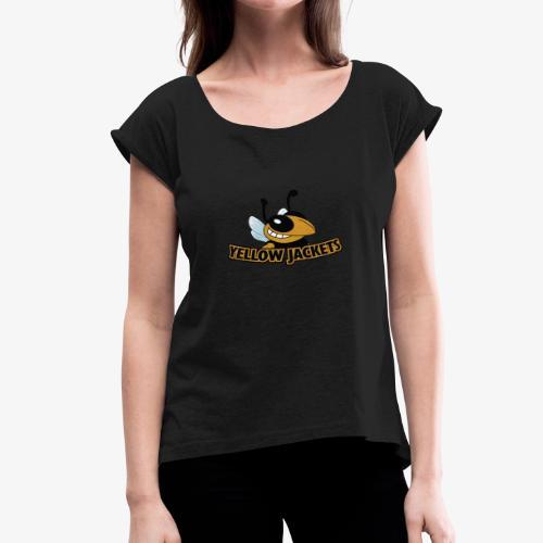 Yellow Jackets Roanoke Rapids - Women's Roll Cuff T-Shirt