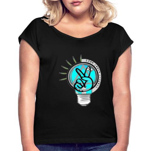 Idea peace project black series - Women's Roll Cuff T-Shirt