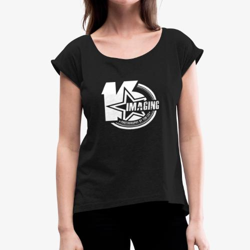 16 Badge White - Women's Roll Cuff T-Shirt
