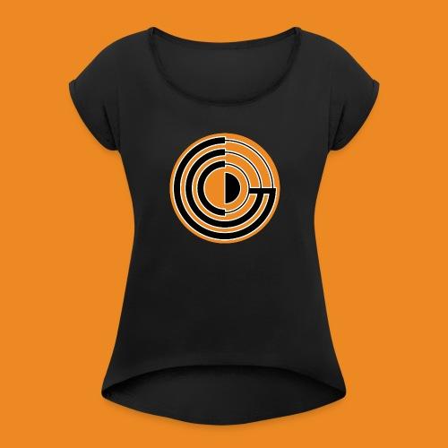 Guayana Game Comms Logo - Women's Roll Cuff T-Shirt
