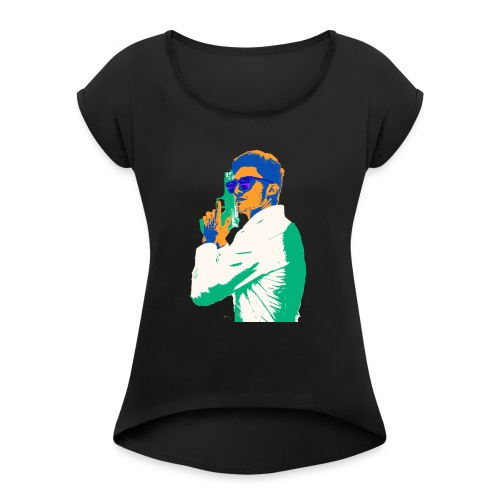 cool rian - Women's Roll Cuff T-Shirt