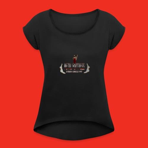 Metal Geezer Pic - Women's Roll Cuff T-Shirt
