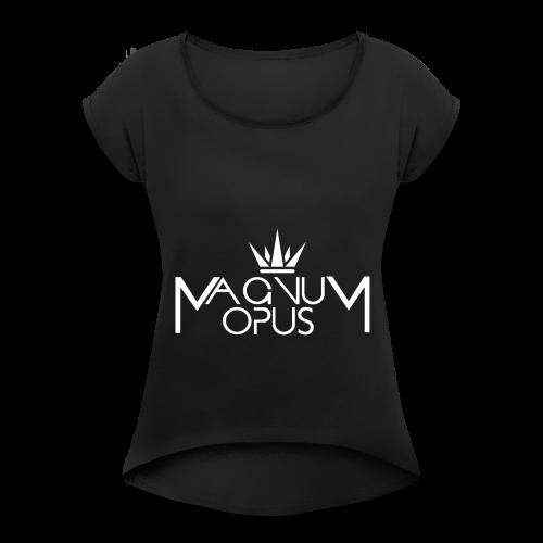 MOCC Magnum Opus WHT - Women's Roll Cuff T-Shirt