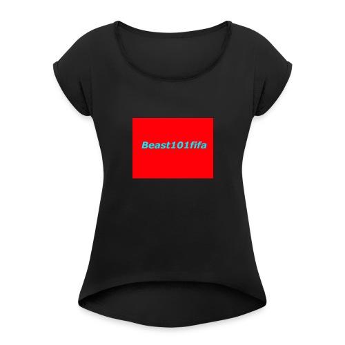 beast101fifa logo - Women's Roll Cuff T-Shirt