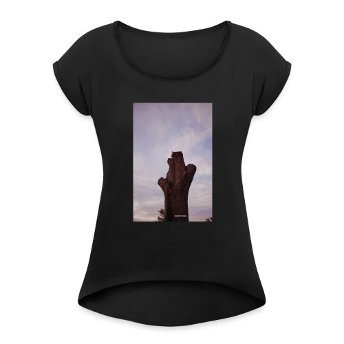 Brown Chirps - Women's Roll Cuff T-Shirt