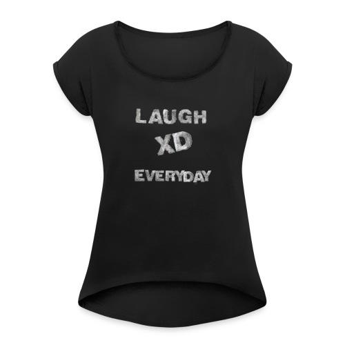 AD5C7F2B 6CD2 498B 91A2 3CAB8E5E4331 - Women's Roll Cuff T-Shirt