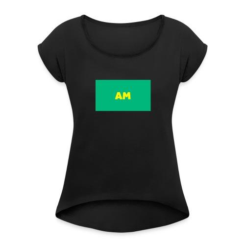 ankit miner - Women's Roll Cuff T-Shirt
