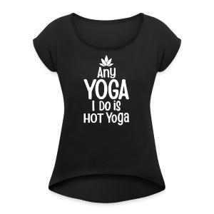 Women's short sleeve yoga t-shirt - Women's Roll Cuff T-Shirt