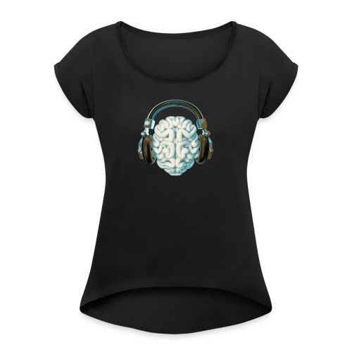 Mind Music Connection - Women's Roll Cuff T-Shirt