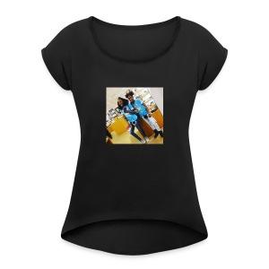 santasia sanatashia - Women's Roll Cuff T-Shirt