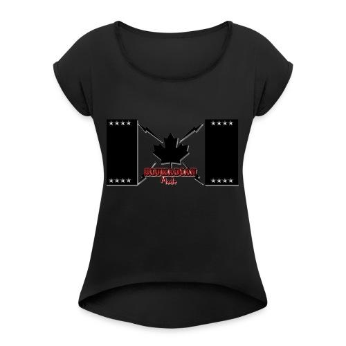 slumadian-black - Women's Roll Cuff T-Shirt