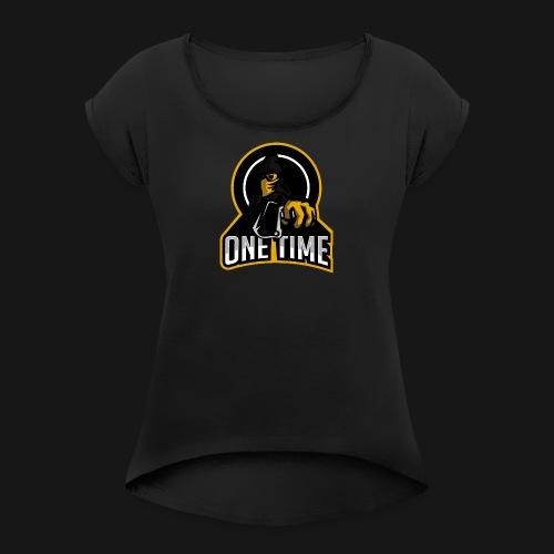 OneTime Gaming Logo - Women's Roll Cuff T-Shirt