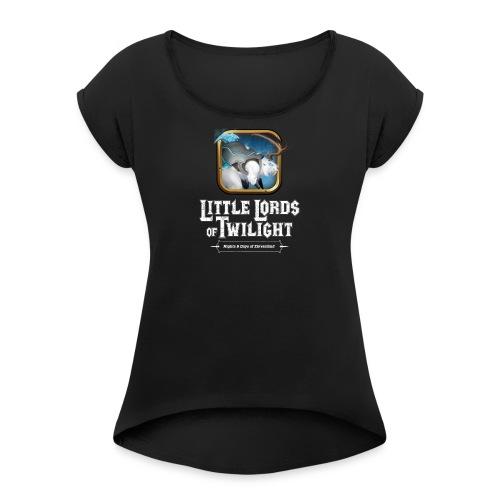 Little Lords of Twilight - White Beaver - Women's Roll Cuff T-Shirt