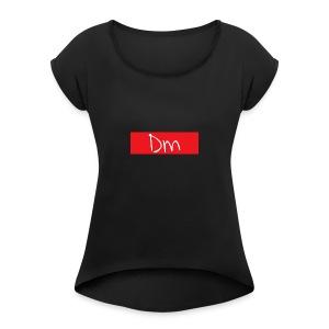 Dm Box Logo - Women's Roll Cuff T-Shirt