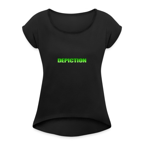 Depiction Impact [GREEN] - Women's Roll Cuff T-Shirt