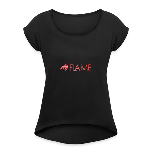 The Flame Army - Red - Women's Roll Cuff T-Shirt