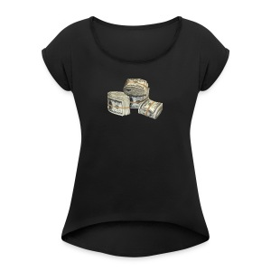 Rubberband Bank - Women's Roll Cuff T-Shirt