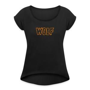 wolf - Women's Roll Cuff T-Shirt