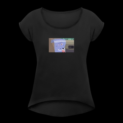 towelie shirt - Women's Roll Cuff T-Shirt