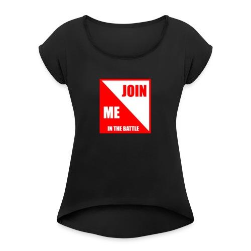 TheRedShirtLogo002 - Women's Roll Cuff T-Shirt