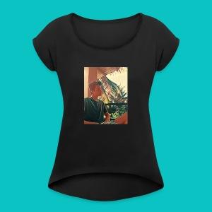 Hot Guy - Women's Roll Cuff T-Shirt