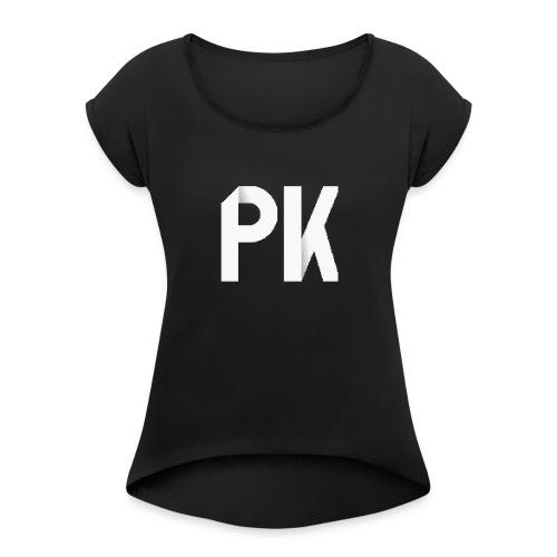PK Squad Logo - Women's Roll Cuff T-Shirt