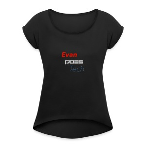 Adults - Original Logo - Women's Roll Cuff T-Shirt