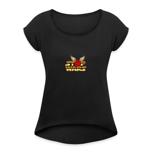 Stop Wars. Wing's and Anarchy - Women's Roll Cuff T-Shirt